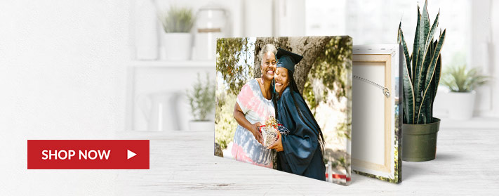 Commemorate your special day by converting your favorite photo into a custom canvas print.