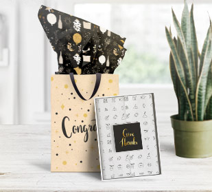 Whether you want to add a touch of glamour to your gift or ensure your customers remember you, personalized tissue paper will do the job.