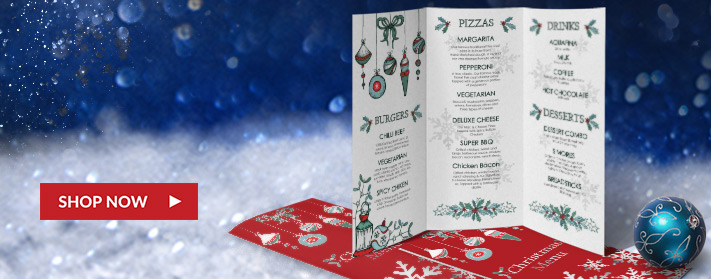 great colors and savings on these holiday menu brochures