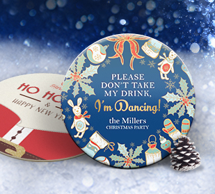 beat the rush with these christmas party themed coasters