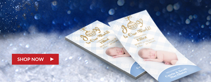 our beautiful custom rack cards, inspired by joy and made with love