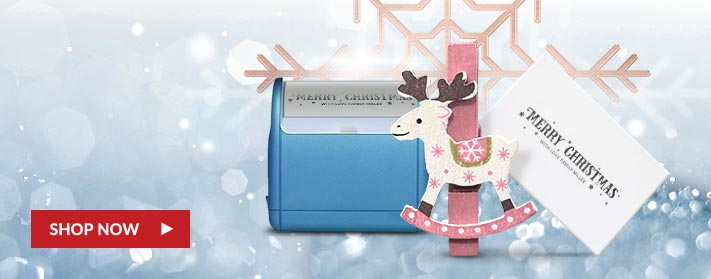 beautiful, high quality self-inking holiday stamps