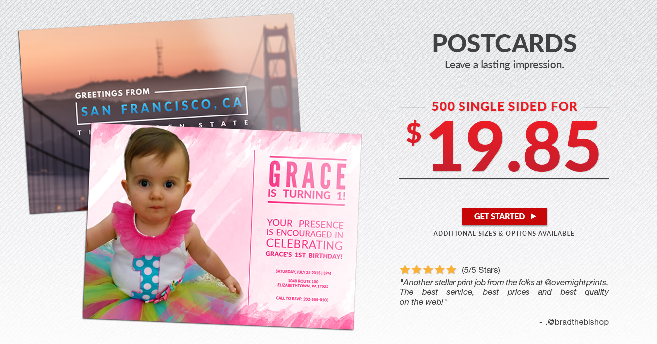 500 - 4x6 Postcards FOR $19.85!