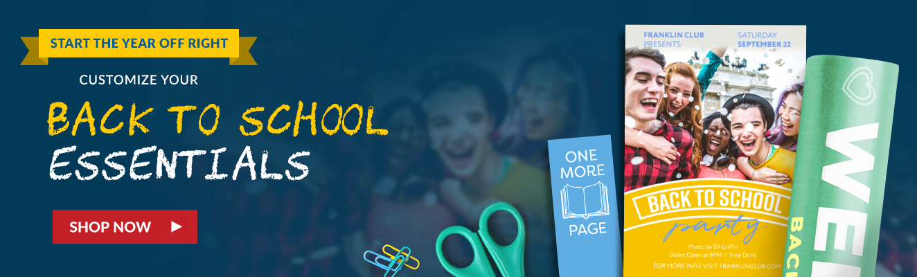 Start the year off right - customize you back to school essentials with Overnight Prints