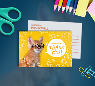 Personalize custom note cards