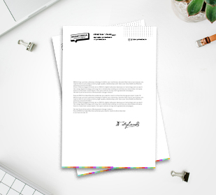 design personalized letterhead