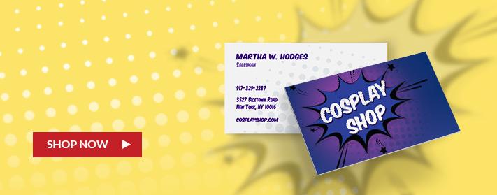 cute custom cosplay inspired business card designs
