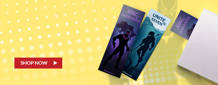 super hero inspired custom bookmarks for gifts, meet and greets or add-ins with purchases