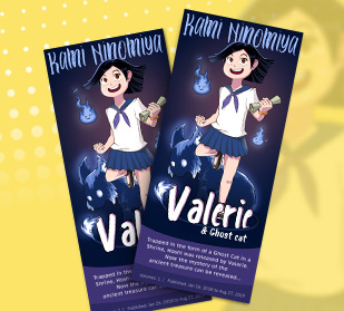 personalized design rack cards for handing out at cosplay events and comic con