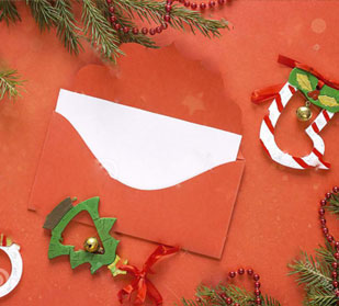 Predesigned Christmas Envelopes