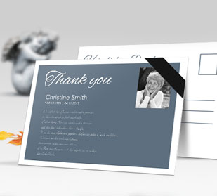 postcard sized sympathy thank you cards in full color