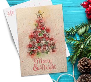 predesigned Christmas cards