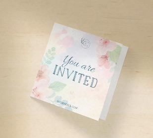 Custom invitation greeting cards in square size