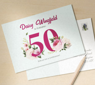 Custom invitation postcards in DIN A5 size