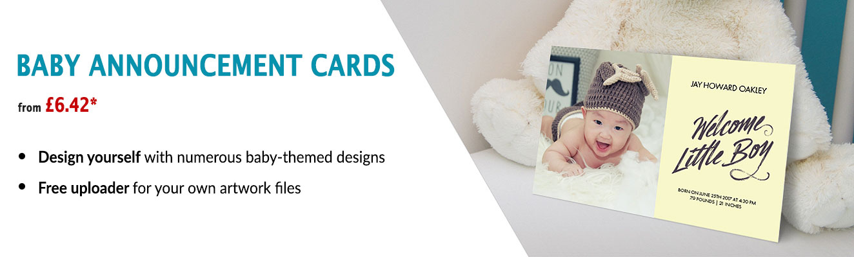 custom baby announcement cards, baby cards, custom postcard baby announcement cards, custom baby bookmarks, custom baby coasters