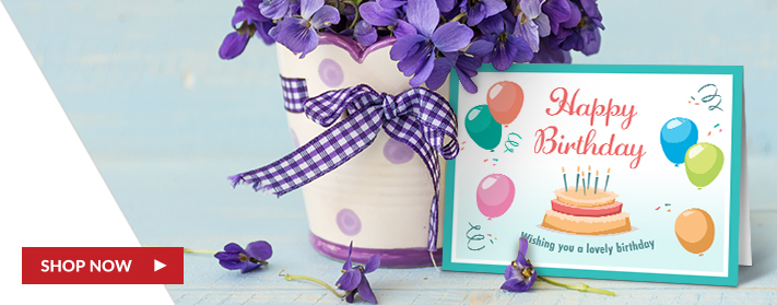 Folded Custom Birthday Cards