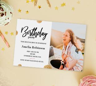 Custom Birthday Invitations