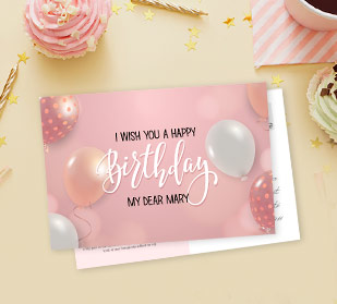 beautiful personalised birthday cards