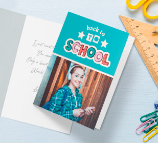 Custom Folded back-to-school Cards