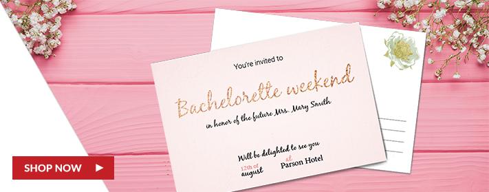 Custom Sandwich Postcard Wedding Cards