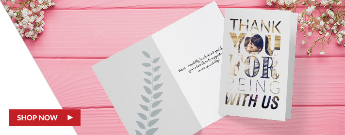Custom Folded Wedding Cards